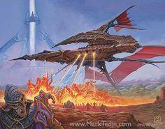 Artist: Mark Tedin  -  Predator, Flagship art  -  http://marktedin.com/home.html  -  #MarkTedin