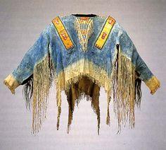 Man's war shirt. Lakota. c. 1870