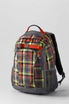 Boys' Plaid ClassMate® Medium Backpack from Lands' End: This would be so precious for Jacob!