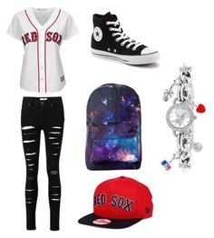"""""""Untitled #170"""" by kai-and-kol16 ❤ liked on Polyvore featuring Converse, Majestic and Game Time"""