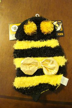 BEE COSTUME PARTY DRESS UP CLOTHING HALLOWEEN PET DOG EXTRA EXTRA SMALL XXS NWT