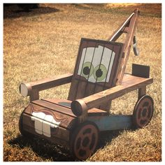 Made A Tow Mater Chair For My Little Man