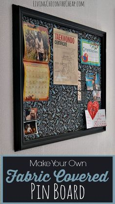 Make your own Fabric Covered Pin Board (scheduled via http://www.tailwindapp.com?utm_source=pinterest&utm_medium=twpin&utm_content=post1479995&utm_campaign=scheduler_attribution)