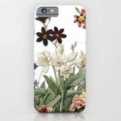 Vintage Botanical Boarder Print iPhone & iPod Case