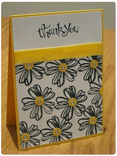 'Thank You' Floral Card