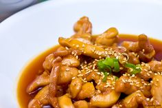 Ingredients: cup lite soy sauce 3 tbsp prepared spicy brown mustard 1 tbsp firmly packed brown sugar tsp ground ginger 1 t. Sesame Chicken, Teriyaki Chicken, I Love Food, Good Food, Awesome Food, Toasted Sesame Seeds, Saute Onions, Food To Make, Chicken Recipes