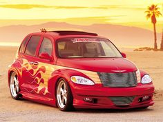 Read all about a Custom Red Chrysler PT Cruiser, brought to you exclusively by the experts at Truckin Magazine. Chrysler Pt Cruiser, Chrysler Cars, Pt Cruiser Accessories, Cruiser Boards, Car Man Cave, Sweet Cars, Car Photography, Custom Trucks, Cool Trucks