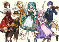 Vocaloid Celebrações Kagamine Rin e Len Anniversary Begin! Hatsune Miku, Kaito, Kagamine Rin And Len, Anime Chibi, Manga Anime, Vocaloid Funny, Vocaloid Characters, Sailor Moon Wallpaper, Mikuo
