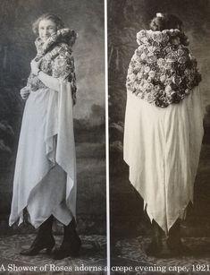 Cappa con rose della Maison Vionnet, 1921.