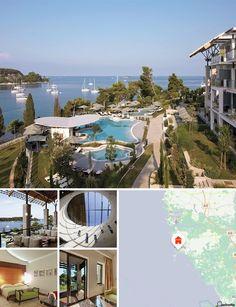 El hotel está rodeado de abundante vegetación mediterránea y se integra armoniosamente en el entorno natural del bosque y parque centenario Zlatni Rt. Se puede encontrar transporte público a 1 km aproximadamente.