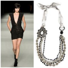 Long Pearl Necklaces, Spring 2014, Ysl, Yves Saint Laurent, Punk, Style Inspiration, Pearls, Classic, Shopping