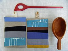 more lotta potholders with lik to her tutorial - thanks!