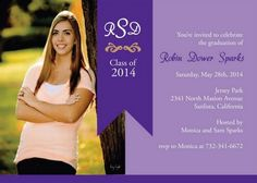 Banner Photo Graduation Party Invitations - High School or College ...