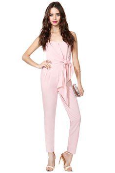 Sasha Jumpsuit - Pink   Shop Rompers + Jumpsuits at Nasty Gal