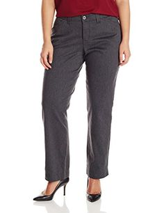 Lee Women's Plus-Size Comfort Fit Kassidy Straight Leg Pant, Charcoal Heather, 18W Petite- #fashion #Apparel find more at lowpricebooks.co - #fashion
