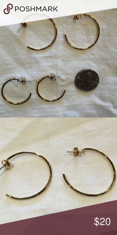 Vintage 1980's Gold Hoop Earrings Bundle My grandmother was cleaning out her jewelry box and was going to throw these amazing vintage pieces away!! So I saved them and I am sharing the pieces that I can't wear. They are in amazing shape and hard to find! Vintage Jewelry Earrings