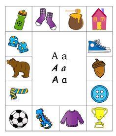 Egyszerű játék, mely használható az első osztályban a betűtanulás során, a logopédiai foglalkozásokon a hanganalízis gyakorlásához, a szókincs fejlesztéséhez. Teaching Kids, Kids Learning, Special Needs, Grammar, Autism, Kindergarten, Playing Cards, Kids Rugs, Teacher