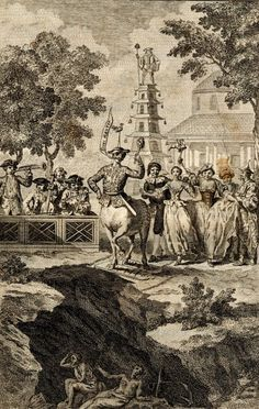 Performance or masquerade at Ranelagh; the Rotunda is in the background. Mid-18th c.