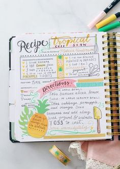 Crafting the Keepsake Kitchen Diary with Amy Tangerine Scrapbook Supplies A scrapbooked recipe page in the Keepsake Kitchen Diary: A DIY recipe and memory cookbook for holding your family recipes Scrapbook Recipe Book, Diy Scrapbook, Scrapbook Supplies, Scrapbooking Layouts, Scrapbook Organization, Friend Scrapbook, Handmade Scrapbook, Family Recipe Book, Family Recipes