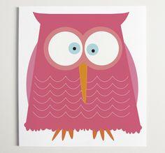 {Pretty in Pink Owl Print} Ryan Beshara - such a cute pink hoot!