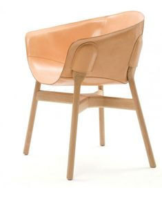 Small Armchair in Natural Soft touch Effect