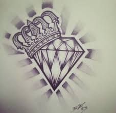 Tatto Ideas hearts with crowns and diamonds tattoo designs Diamond Crown Tattoo, Diamonds Tattoo, Diamond Tattoo Designs, Cross Tattoo Designs, Heart Tattoo Designs, Tattoo Crown, Diamond Tattoo Men, Diamond Finger Tattoo, Ring Finger