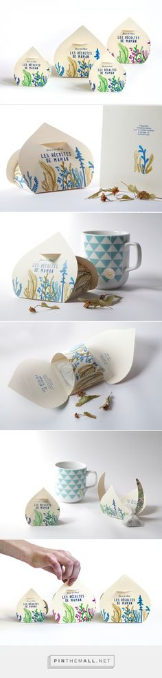 Fleurs de Tilleul - Les Récoltes de Mamanl - packaging herbal tea by Magali Pagnier