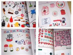 Japanese Craft Pattern Book Scandanavian Embroidery Designs