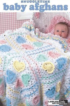 Snuggletime Baby Afghans Pattern Book, 4 Easy Knit, 4 Crochet Projects, Leisure Arts Little Book, 1998 by theShoppingMollies on Etsy Baby Afghan Patterns, Baby Afghan Crochet, Crochet Bebe, Baby Afghans, Crochet Blanket Patterns, Baby Knitting Patterns, Free Crochet, Knit Crochet, Baby Blankets