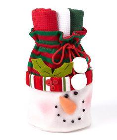 Love this Snow Fun! Snowman Dish Towel Gift Set on #zulily! #zulilyfinds