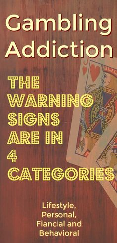 Gambling addiction & problem gambling : warning signs and how to get help whether you bet