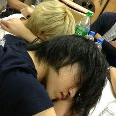 Hiroki & Teru.. sleeping