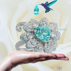 Samuel Sylvio.  The Paraiba Flower Ring.   #oneofakind #paraibatourmaline #jewelry #jewelryblogger #jewelrydesign