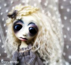 Loopy OOAK Art Doll  Francine Bergeron Orphan of New by loopyboopy.etsy.com