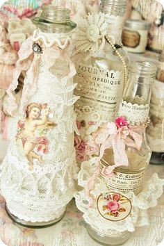 pretty decorated bottles