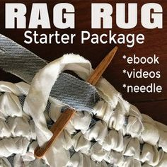 Rag Rug Starter Package: eBook, Videos and Needle – Braided Rugs Diy Fabric Crafts, Sewing Crafts, Scrap Fabric, Fabric Strips, Rag Rug Diy, Crochet Rag Rugs, Diy Crochet, Toothbrush Rug, Homemade Rugs