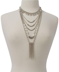 81baed524eb0bc Lucky Brand Lucky Brand Statement Layer Necklace Silver Layer Necklace,  Multi Strand Necklace, Pearl. Tradesy