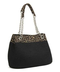 This Black Leopard Chain Shoulder Bag is perfect! #zulilyfinds