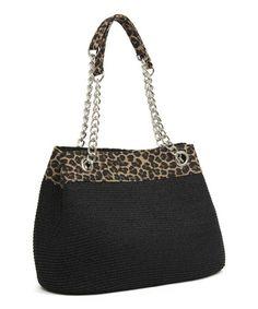 This Black Leopard Chain Shoulder Bag is perfect! #zulilyfinds