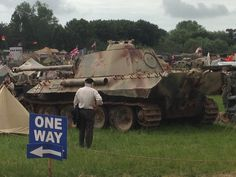 A restored operating Panther Ausf G seen a military show