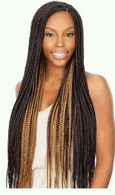 This is going to be the color combination that I'm going to do for my braids.