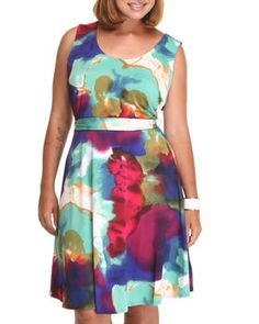 Buy A-line printed dress w/belt (plus) Women's Dresses from Fashion Lab. Find Fashion Lab fashions & more at DrJays.com