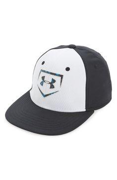 Under Armour  Baseball Camo  Stretch Fit Baseball Cap (Boys) available at   a787270728e