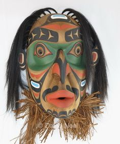 Wildman of the Woods Mask (Bukwis) by David Neel, the great-grandson of Charlie James.