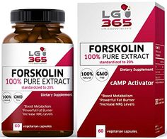 LG365 Forskolin Capsules Extract for Weight Loss 100 Pure Weight Loss Pills for Women and Men to Control Weight Best Belly Fat Buster cAMP Molecule Activator * Check out this great product.Note:It is affiliate link to Amazon.