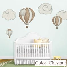 Hot Air Balloon Wall Decal for baby's room