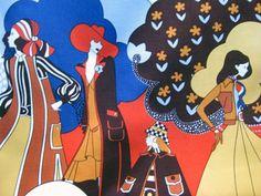 Tela sixties. www.lacarola.com