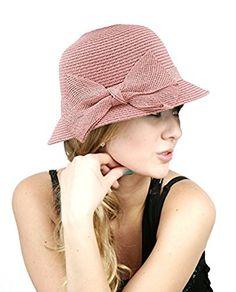 NYFASHION101 Spring Summer Side Flip Cloche Bucket Hat w  Woven Bow Accent  Bucket 0b3d4b985fe3