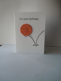 Happy Birthday Handmade Greeting Card with orange by lindaoakes