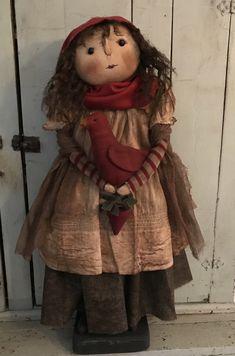 Primitive Snowmen, Primitive Folk Art, Primitive Crafts, Snowman Patterns, Doll Patterns, Amish Dolls, Homemade Dolls, Raggedy Ann, Rag Dolls